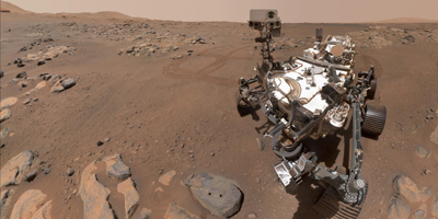 NASA's Perseverance Mars rover took this selfie over a rock nicknamed Rochette, on September 10, 2021, the 198th Martian day, or sol of the mission.